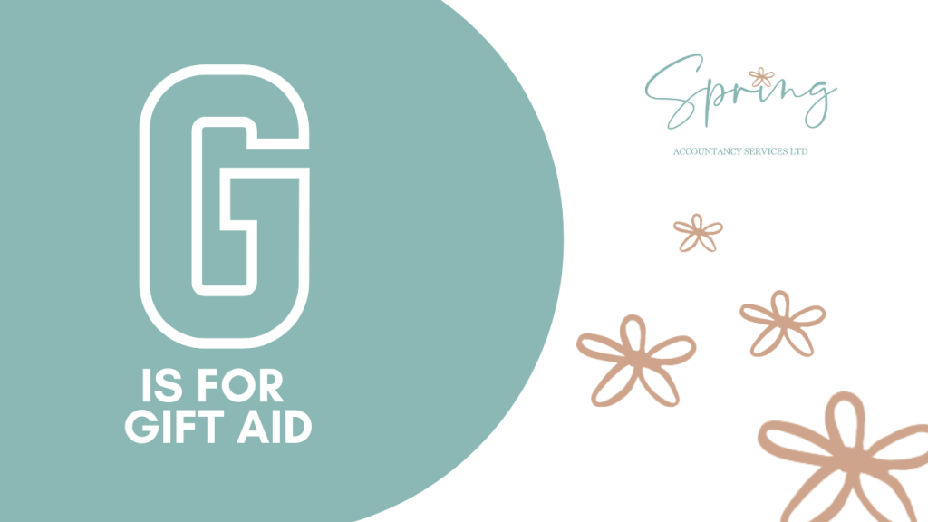 G is for Gift Aid